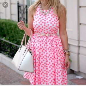 Neon floral embroidered dress
